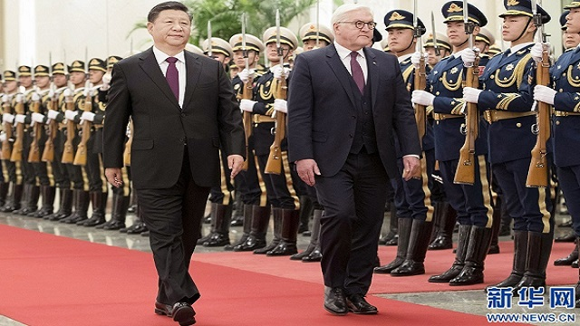 习近平同德国总统施泰因迈尔举行